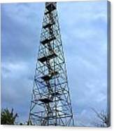Apalachee Fire Tower In Morgan County Canvas Print