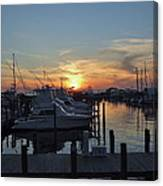 Apalachicola Marina At Sunset Canvas Print