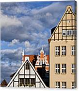 Apartment Houses In Gdansk Canvas Print