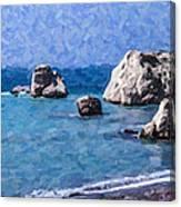 Aphrodites Rock Cyprus Canvas Print