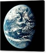 Apollo 11 Image Of Earth Showing Pacific Ocean Canvas Print