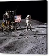 Apollo 16 Lunar Landing Astronaut Young Canvas Print
