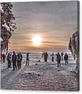 Apostle Islands Ice Cave Sunset Canvas Print