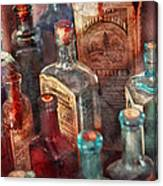 Apothecary - A Series Of Bottles Canvas Print