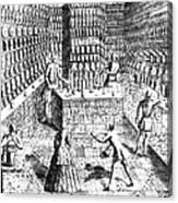 Apothecary Shop, 1688 Canvas Print