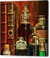 Apothecary - Vintage Jars And Potions Canvas Print