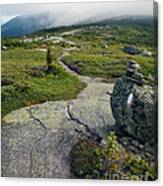 Appalachian Trail Mountain Path Saddleback Maine Canvas Print