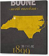 Appalachian State University Mountaineers Boone Nc College Town State Map Poster Series No 010 Canvas Print