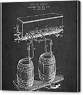 Apparatus For Beer Patent From 1900 - Dark Canvas Print