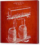 Apparatus For Beer Patent From 1900 - Red Canvas Print