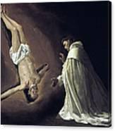 Apparition Of Apostle Saint Peter To Saint Peter Nolasco Canvas Print