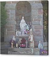 Apparition Of Virgin Mary Canvas Print