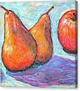 Apple And Pear Twirl Canvas Print