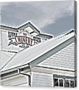 Apple Barn Winery Sign In Grayscale Canvas Print