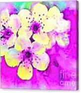 Apple Blossoms In Magenta -  Digital Paint Canvas Print