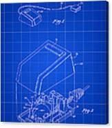 Apple Mouse Patent 1984 - Blue Canvas Print