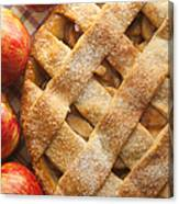 Apple Pie With Lattice Crust Canvas Print