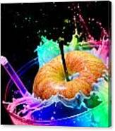 Apple Splash Canvas Print