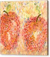 Apple Twins Canvas Print