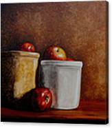 Apples And Jars Canvas Print