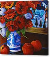 Apples And Poppies Canvas Print