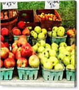 Apples At Farmer's Market Canvas Print