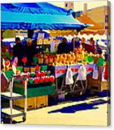 Apples Cortlands Lobos Honey Crisps Mcintosh Atwater Market Apple Fruit Stall Foodart Carole Spandau Canvas Print