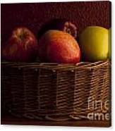 Apples In Basket Canvas Print