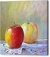 Apples On A Table Canvas Print