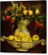 Apples Pears And Tulips Canvas Print
