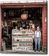 Apples. The Natural Temptation - Farmer And Old Farm Signs Canvas Print
