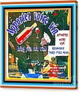 Apportez  Votre Vin Vintage French Bistro Signage Paris Style Menu Poster Decor Painting Cspandau Canvas Print