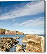 Approach To St Abbs Harbour Canvas Print