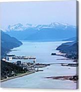 Approaching Juneau Canvas Print