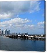 Approaching Miami Canvas Print