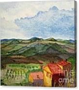 Approaching Montepulciano Canvas Print