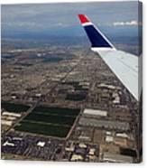 Approaching Phoenix Az Wing Tip View Canvas Print