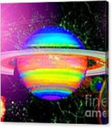 Approaching Saturn From The East Canvas Print