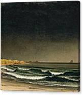 Approaching Storm. Beach Near Newport Canvas Print