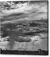 Approaching Storm Black And White Canvas Print
