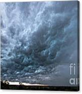 Approaching Storm Over Belton-sunset Canvas Print