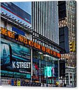 approaching Times Square Canvas Print