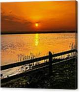 April Sunset Canvas Print