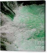 Aqua Falls Canvas Print