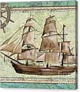 Aqua Maritime 1 Canvas Print