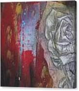 Aqua Red Rose No.3 Canvas Print
