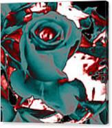 Aqua Rose - Abstract Canvas Print