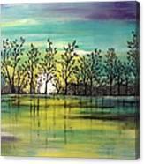 Aqua Sunset Canvas Print