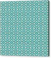 Aqua X Arrangement Canvas Print