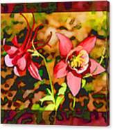 Aqualigia Floral 11x14 Canvas Print